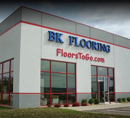 The showroom of BK Flooring, Evansville