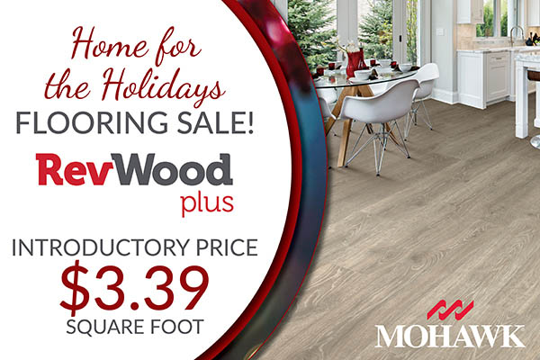 Mohawk RefWood plus laminate on sale!  Introductory pricing of $3.39 sq.ft. during the Home for the Holidays flooring sale at BK Flooring in Evansville!